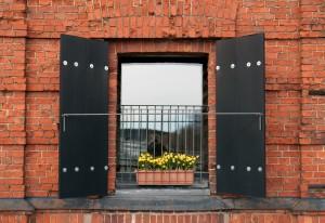 Az ablak redőny oldalon